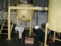 Ghee manufacturing in progress